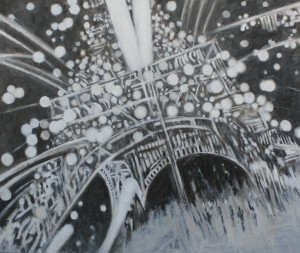 "Shadows + Light Paris"" oil on canvas 120 x 150 cm (48"" x 60"")"
