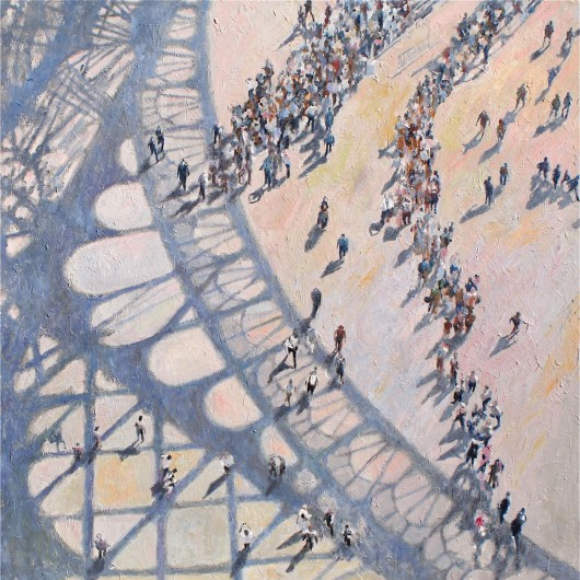 """Shadows Paris I"" oil on canvas 120 x 120 cm (48"" x 48"")"